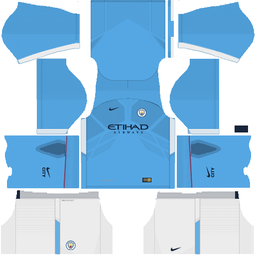 Dream League Soccer Manchester City Kit 2017-2018 {DLS Kits & Logo}