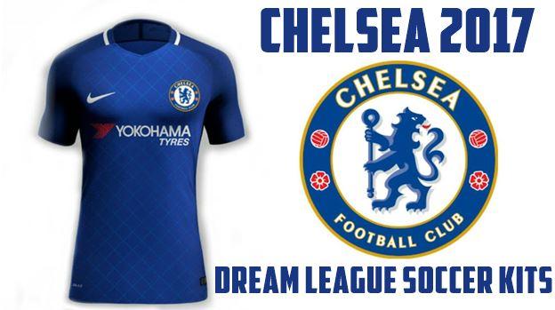purchase cheap ee5f1 7060e Dream League Soccer Kits Chelsea 2017 URL with Logo