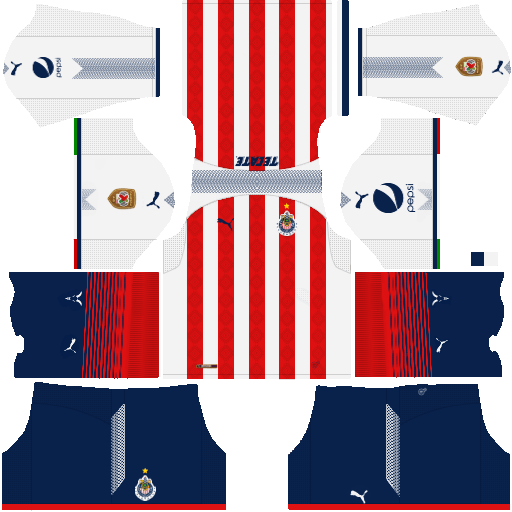 4a78ef91dc4 Dream League Soccer Kits Chivas 2017 18   2016 with Logo URL