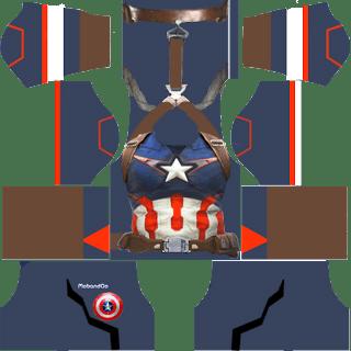 Dream League Soccer Kit Captain America