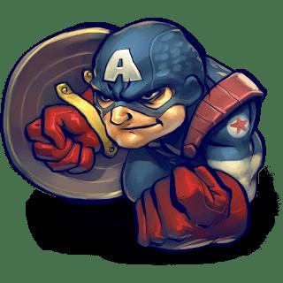 Dream League Soccer Logo Captain America