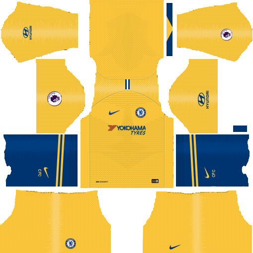 Dream League Soccer Kits Chelsea FC Away 2018-19 URL 512x512