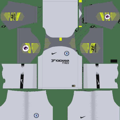 Goalkeeper Away Dream League Soccer Kits Chelsea FC Away 2018-19 URL 512x512