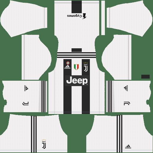 Home F.C. Juventus 2018-19 Dream League Soccer Kits URL 512X512