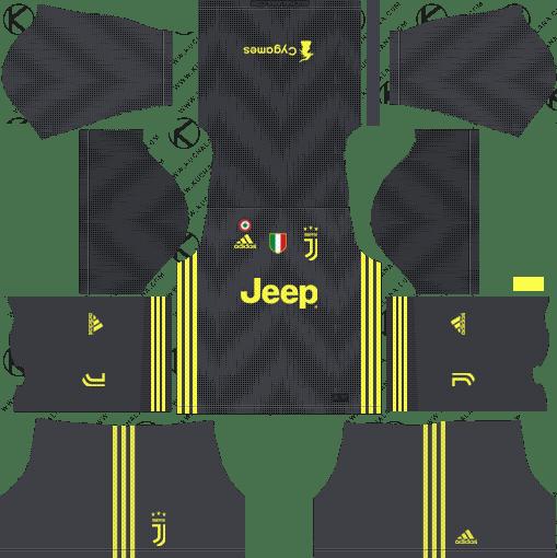 Third Dream League Soccer Juventus 2018-19 Kits URL 512x512