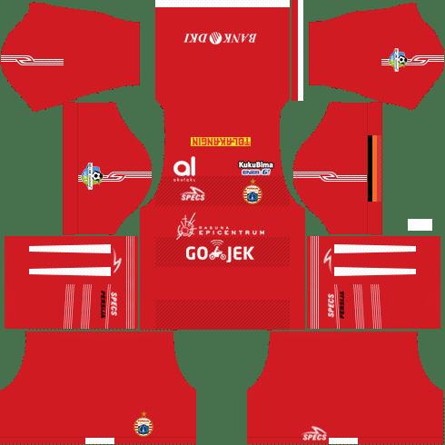 Kit Dream League Soccer Persija Jakarta 2018-19 Kits URL