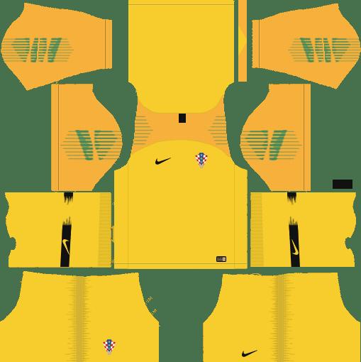 2d75f680c4a Croatia World Cup 2018 Goalkeeper Dream League Soccer Kits URL 512x512 -  AWAY