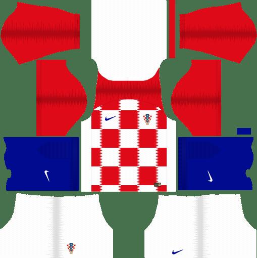 Croatia World Cup 2018 Dream League Soccer Kits URL 512x512