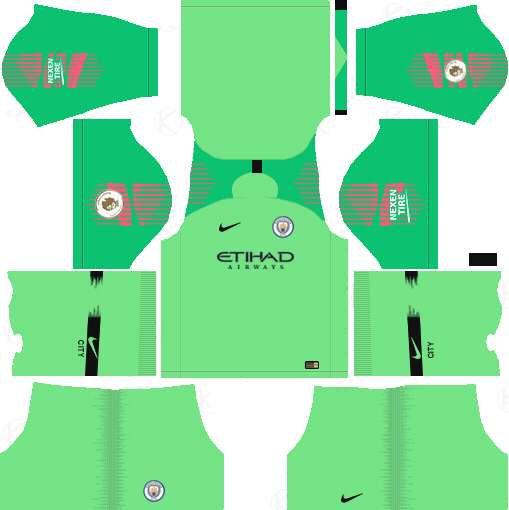 59c6b5390cd Manchester City Goalkeeper Away Kits 2018-19 - Dream League Soccer Kits