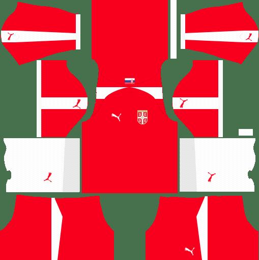 Serbia 2018 World Cup Dream League Soccer Kits & Logo URL