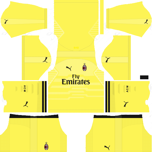 on sale abc6d 8d2e5 AC Milan 2018-19 Dream League Soccer Kits & Logo