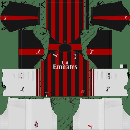 72c9b9e4b3f AC Milan 2018-19 Dream League Soccer Kits URL 512x512