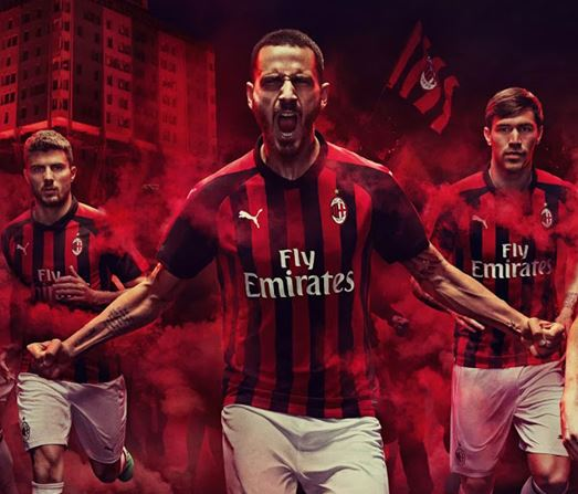 on sale 2caf6 5a522 AC Milan 2018-19 Dream League Soccer Kits & Logo