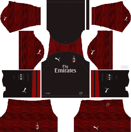 3447bd3a83e AC Milan 2018-19 Third Kit Dream League Soccer Kits