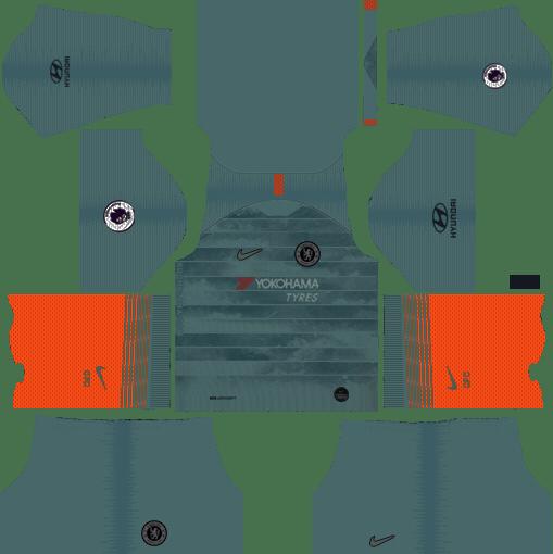 Chelsea Third Kit 2018-19 Dream League Soccer Kits