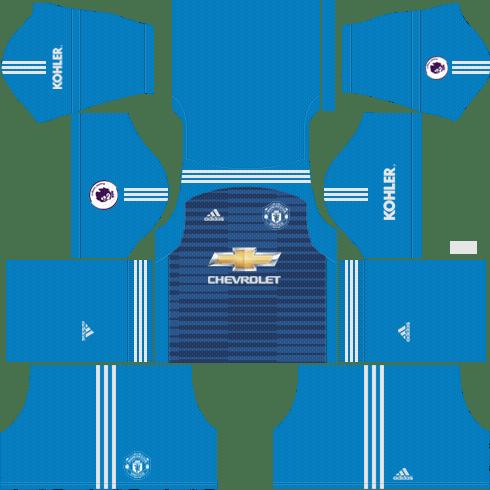 7f8ef727987 Goalkeeper Manchester United Away Kit 2018 19 - Dream League Soccer Kits