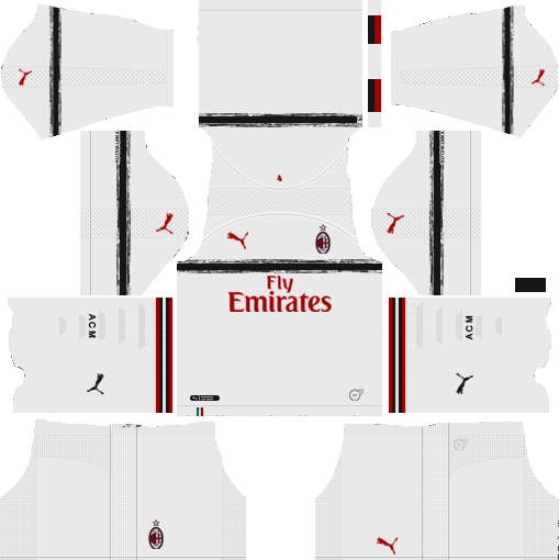 16a787c9908 AC Milan Away Kit 2018-19 Dream League Soccer Kits URL 512x512