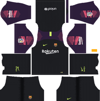 5b11adfb2a6 Barcelona Goalkeeper Away Kit 2018-19 Dream League Soccer Kits URL 512x512