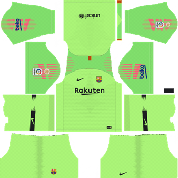 644985e7346 Barcelona Goalkeeper Home Kit 2018-19 Dream League Soccer Kits URL 512x512