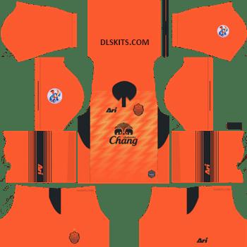 AFC Buriram United Away Kit 2019 - DLS Kits - Dream League Soccer Kits URL 512x512