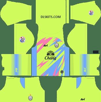 AFC Buriram United Goalkeeper Home Kit 2019 - DLS Kits - Dream League Soccer Kits URL 512x512