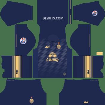 AFC Buriram United Home Kit 2019 - DLS Kits - Dream League Soccer Kits URL 512x512