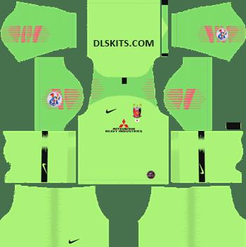 AFC Urawa Red Diamonds Goalkeeper Home Kit 2019 - DLS 19 Kits - Dream League Soccer Kits URL 512x512