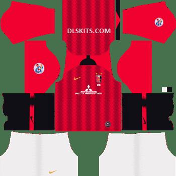 AFC Urawa Red Diamonds Home Kit 2019 - DLS 19 Kits - Dream League Soccer Kits URL 512x512