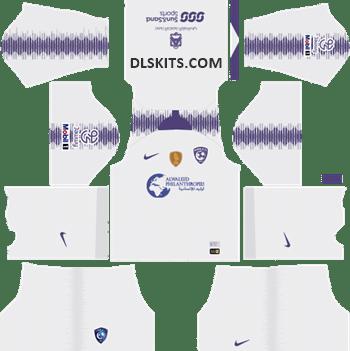 Al-Hilal FC Away Kit 2019 - DLS Kits - Dream League Soccer URL 512x512