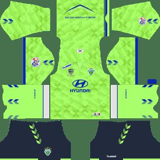 Jeonbuk Hyundai Motors FC AFC Home Kit 2019 - DLS 19 Kits - Dream League Soccer Kits URL 512x512