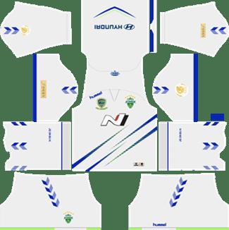 Jeonbuk Hyundai Motors FC Away Kit 2019 - DLS 19 Kits - Dream League Soccer Kits URL 512x512