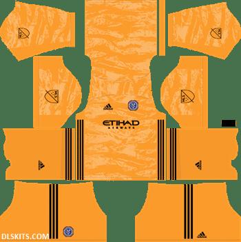New York City FC 2019 Goalkeeper Home Kit - DLS 19 Kits - Dream League Soccer 512x512 Kits URL