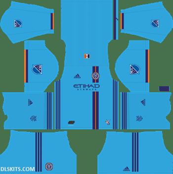 New York City FC 2019 Home Kit - DLS 19 Kits - Dream League Soccer Kits URL 512x512