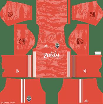Seattle Sounders FC Goalkeeper Home Kit 2019 - DLS Kits - Dream League Soccer 512x512 Kits