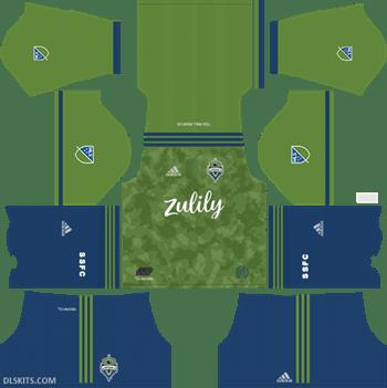 Seattle Sounders FC Home Kit 2019 - DLS Kits - Dream League Soccer Kits URL 512x512