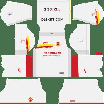Selangor 2019 Kit Away - DLS Kits - Dream League Soccer Kits 5112x512 URL