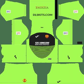 9bfab29df01 Selangor 2019 Kit Goalkeeper Home - DLS Kits - Dream League Soccer Kits URL  512x512