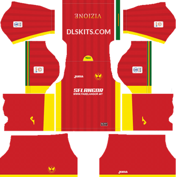 fbe1965e9f9 Selangor 2019 Kit Home - DLS Kits - Dream League Soccer Kits 5112x512 URL