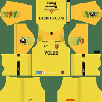 Urawa Red Diamonds Goalkeeper Away Kit 2019 - DLS 19 Kits - Dream League Soccer Kits URL 512x512