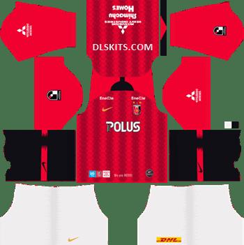 Urawa Red Diamonds Home Kit 2019 - DLS 19 Kits - Dream League Soccer Kits URL 512x512