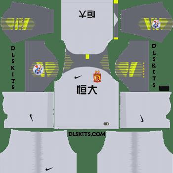 AFC Guangzhou Evergrande FC Goalkeeper Home Kit 2019 - DLS 19 Kits - Dream League Soccer Kits URL 512x512