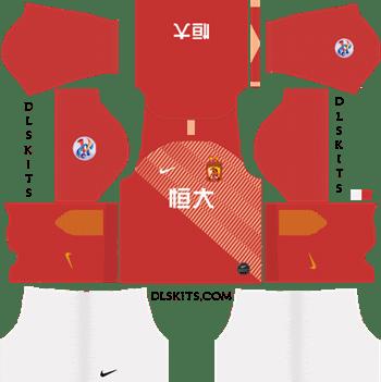 AFC Guangzhou Evergrande FC Home Kit 2019 - DLS 19 Kits - Dream League Soccer Kits URL 512x512