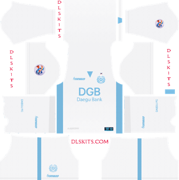 Daegu FC AFC Away Kit 2019 - DLS 19 Kits - Dream League Soccer Kits URL 512x512