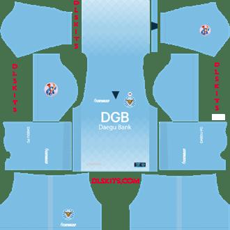 Daegu FC AFC Home Kit 2019 - DLS 19 Kits - Dream League Soccer Kits URL 512x512