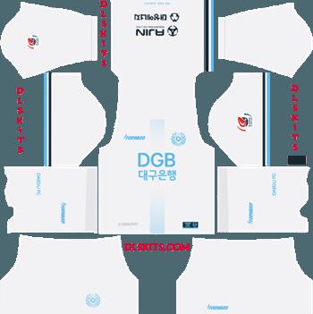 Daegu FC Away Kit 2019 - DLS 19 Kits - Dream League Soccer Kits URL 512x512