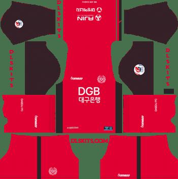 Daegu FC Goalkeeper Home Kit 2019 - DLS 19 Kits - Dream League Soccer Kits URL 512x512