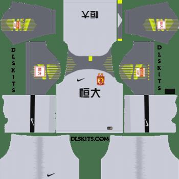 Guangzhou Evergrande FC Goalkeeper Home Kit 2019 - DLS 19 Kits - Dream League Soccer Kits URL 512x512