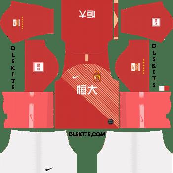 Guangzhou Evergrande FC Home Kit 2019 - DLS 19 Kits - Dream League Soccer Kits URL 512x512