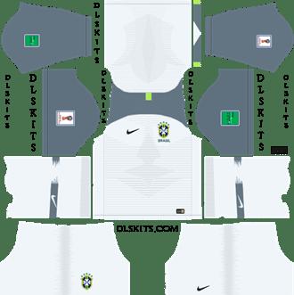 Nike Brazil Copa America Goalkeeper Home Kit 2019 - DLS 19 Kits - Dream League Soccer Jersey URL 512x512