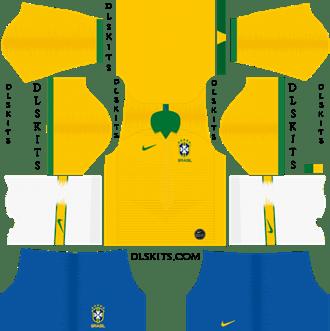 Nike Brazil Copa America Home Kit 2019 - DLS 19 Kits - Dream League Soccer Kits URL 512x512